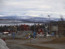 Piękny widok od Kiruna outside obrazy royalty free