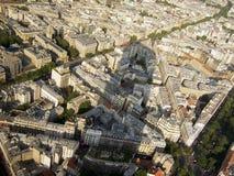 Piękny widok ogromny cień, ulicy i architektura Paryż od Montparnasse, górujemy zdjęcia stock