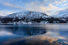 Piękny widok północny Norway w zimie fotografia royalty free