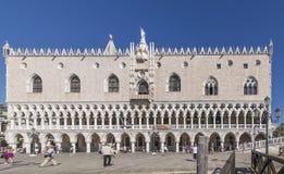 Piękny widok Palazzo Ducale, Wenecja, Włochy obraz stock