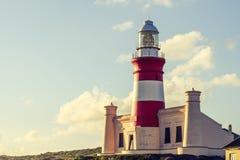 Piękny widok przylądka Agulhas latarnia morska Obrazy Royalty Free