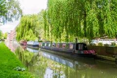Piękny widok rzeka Avon, skąpanie, Anglia zdjęcia stock