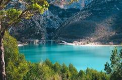 Piękny widok St Croix jezioro w Provence, Francja obrazy royalty free