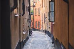 Piękny widok Sztokholm Gamla Stan kapitałowy stary miasteczko, Szwecja obrazy stock