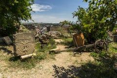 Piękny widok Tbilisi, stara miasto ściana, Gruzja, Europa obrazy royalty free