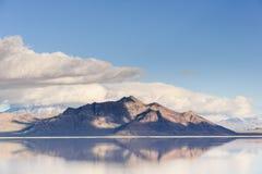 Piękny widok w słonym jeziorze obrazy royalty free