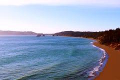 Piękny widok wybrzeże pacyfiku w Kalifornia, stany Ameryka zdjęcia stock