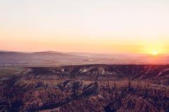 Piękny widok wzgórza Cappadocia Jeden widoki Turcja Turystyka, podróż, piękni krajobrazy, natura Obrazy Royalty Free