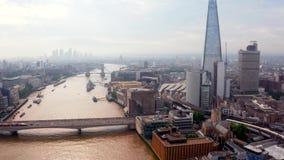 Piękny widok z Londynu na wieżowce zdjęcie wideo