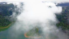 Piękny widok z lotu ptaka Królewski Belum Malezja zdjęcie wideo
