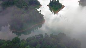 Piękny widok z lotu ptaka Królewski Belum Malezja zbiory wideo