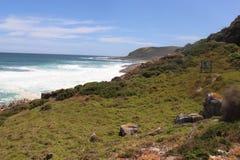 Piękny widoku na ocean Południowa Afryka Robberg ślad obrazy stock
