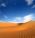Evening pustynia krajobraz Obraz Royalty Free