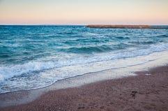 Piękny wieczór na wybrzeżu Czerwony morze Fotografia Stock