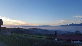 Piękny wieczór nad Slovenia zdjęcie stock