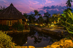 Piękny wieczór oświetlenia kurort Obraz Stock