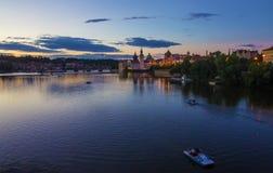 Piękny wieczór przy Praga, czech fotografia stock