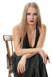 piękny wieczór uzupełniająca kobieta Fotografia Royalty Free