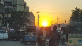 Piękny wieczór w Pakistan zdjęcie stock