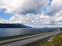 Piękny wiejski krajobraz Norwegia fotografia royalty free