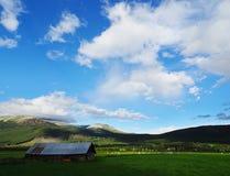 Piękny wiejski krajobraz Norwegia obraz stock