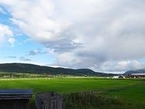 Piękny wiejski krajobraz Norwegia zdjęcia royalty free