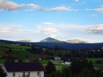 Piękny wiejski krajobraz Norwegia obraz royalty free