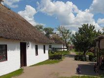 Piękny wiejski krajobraz w Ukraińskiej wiosce obraz royalty free