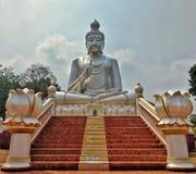 Piękny wielki Buddha wizerunek przy Samran świątynią Non fotografia stock