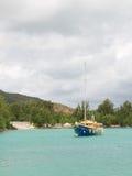 Piękny wielki jacht Zdjęcia Royalty Free