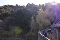 Piękny wielki mur Chiny zdjęcie royalty free