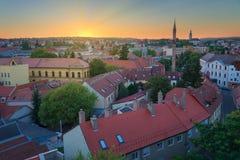 Piękny wino region Eger w Węgry Fotografia Royalty Free