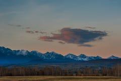 Piękny wiosna krajobraz Zachodnie Sayan góry Zdjęcia Stock