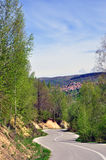 Piękny wiosny góry krajobraz zdjęcia royalty free