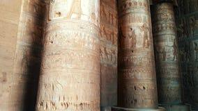 Piękny wnętrze świątynia Dendera lub świątynia Hathor Egipt, Dendera, Antyczna Egipska świątynia blisko zbiory