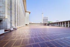 Piękny wnętrze Istiqlal meczet Zdjęcia Stock