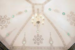 Piękny wnętrze sufit antyczny bogaty araba dom Obrazy Stock