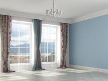 Piękny wnętrze w błękitnych kolorach Zdjęcie Stock