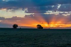 Piękny wschód słońca na równinach Kolorado zdjęcia stock