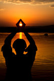 Piękny wschód słońca na rzecznym Bojana Zdjęcie Stock