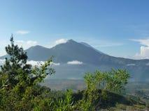 Piękny wschód słońca na wulkanie Widok Agung wulkan od szczytu Batur Obraz Royalty Free