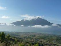 Piękny wschód słońca na wulkanie Widok Agung wulkan od szczytu Batur Obrazy Royalty Free