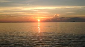 Piękny wschód słońca nad Atlantyk ocean zbiory