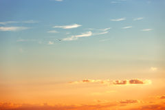 Piękny wschód słońca nad horyzontem Zdjęcia Royalty Free