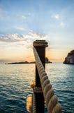 Piękny wschód słońca nad morzem Fotografia Royalty Free