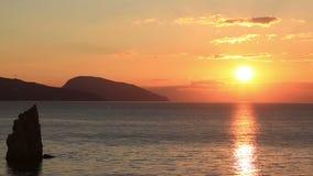 Piękny wschód słońca w Crimea zdjęcie wideo
