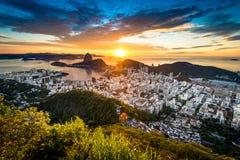 Piękny wschód słońca w Rio De Janeiro, Brazylia fotografia stock