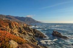 Piękny wybrzeże pacyfiku, Kalifornia Obraz Royalty Free