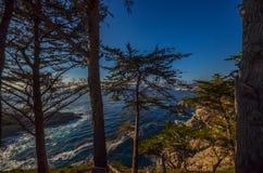 Piękny wybrzeże pacyfiku, Kalifornia Fotografia Stock