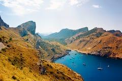 Piękny wybrzeże w Mallorca Obrazy Royalty Free